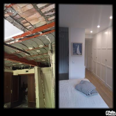 Antes y después de un dormitorio que hemos reformado