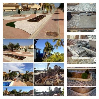 Uso de piedras en terrazas