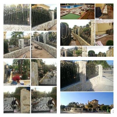 Instalación de Rejas y piedras locas