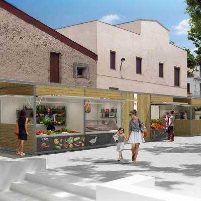 Reforma de parades de mercat a Argentona