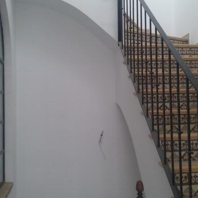 Zanca escalera imitación doble tablero de resilla.