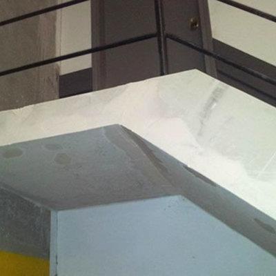 Protección de escaleras con placas de Pladur RF