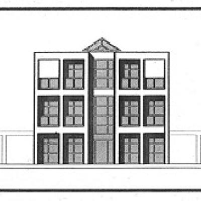 Plano fachada edificio