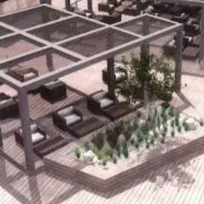terraza exterior restaurante