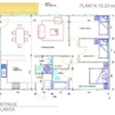 Plano de casa 75 m
