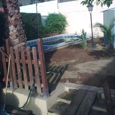 Creacion de nuevo jardin el antes