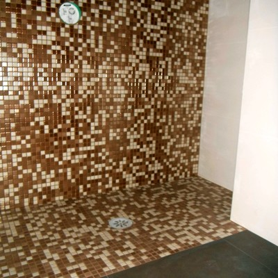 Plato de ducha de obra in situ
