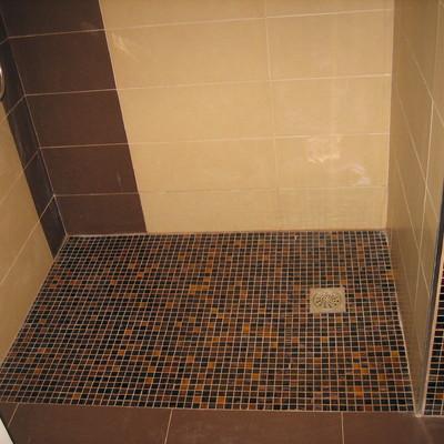 Plato de ducha encastrado al suelo
