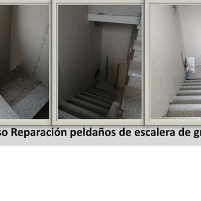 Reparación de peldaños de escaleras