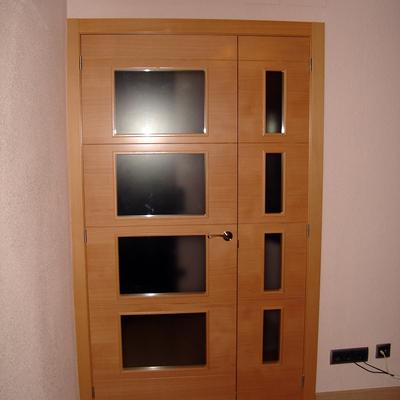 Porta interior doble
