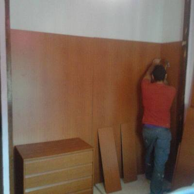 preparacion de forrar armario