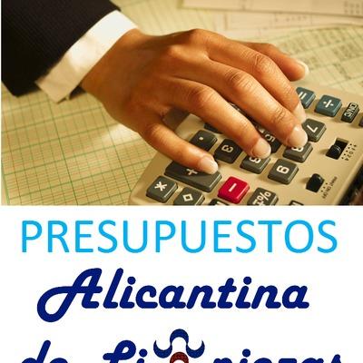 Presupuestos Alicantina de Limpiezas.