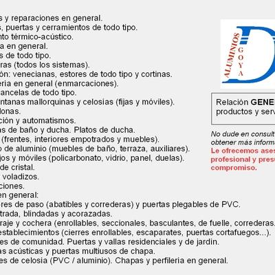 Productos y servicios generales