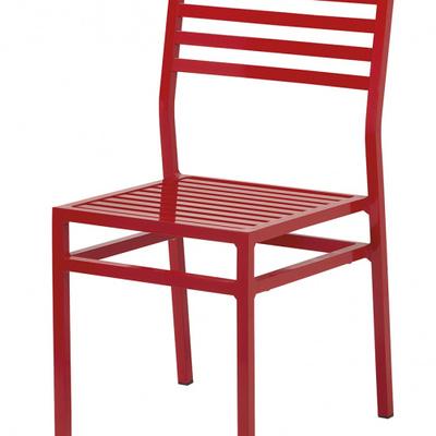silla metalica cuadrada