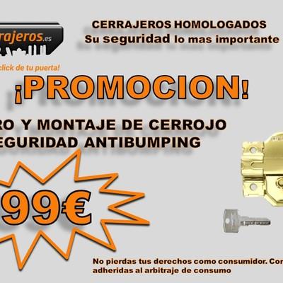 PROMOCIÓN!!! Suminitro y montaje de cerrojo de seguridad 99€!!!!!