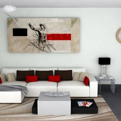 Propuesta decorativa de salón para piso en Ronda.