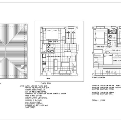 Propuesta para construccion nueva planta de vivienda unifamiliar