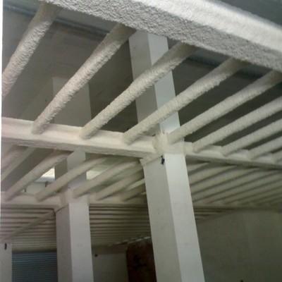 Protección de estructura metálica con mortero de perlita