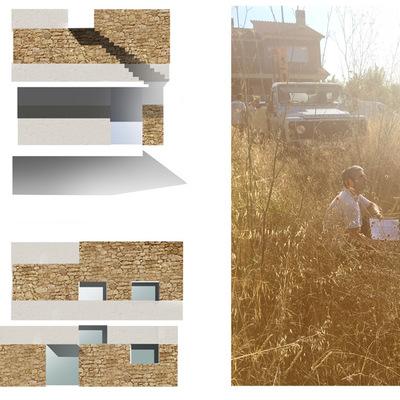Pruebas de fachada y geotecnicos para vivienda unifamiliar