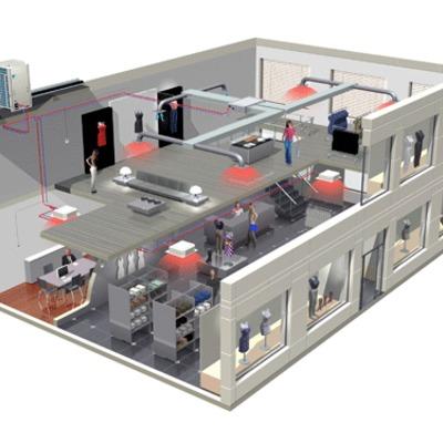 Proyecto de climatación estándar para un local comercial