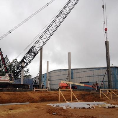 Proyecto de construcción edificio industrial