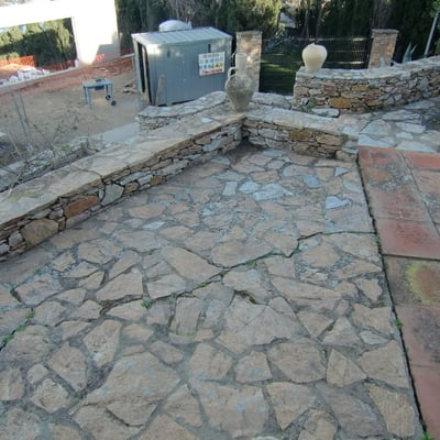 Proyecto de reforma de terrazas exteriores en chalet - antes