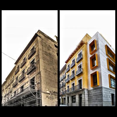 Proyecto de rehabilitación y ampliación edificio de 20 viviendas. C/ Antonio Grilo 11, Madrid.