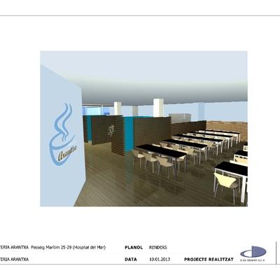Proyecto decoración Cafeteria-Restaurante en Barcelona