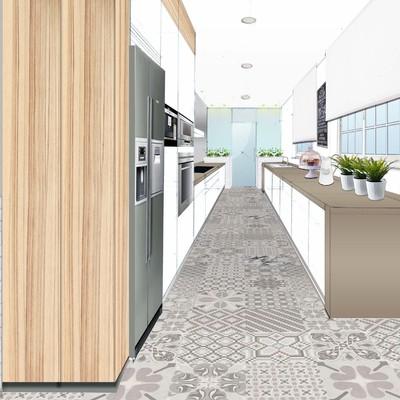 Proyecto full vivienda. Perspectiva Cocina