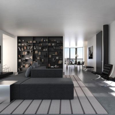 Proyecto interiorismo 3D completo, Residencial de lujo Campari