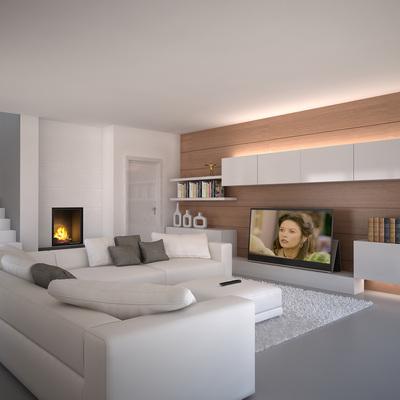 Proyecto interiorismo 3D de zona relax.