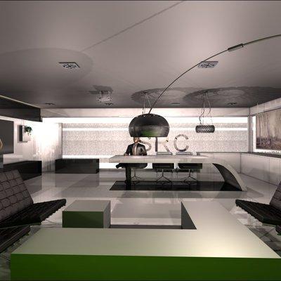 Proyecto Oficina zona reunión