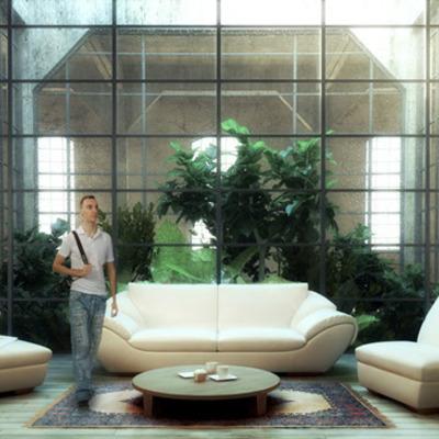 Proyecto, reforma y propuesta de decoración de loft en sotano.