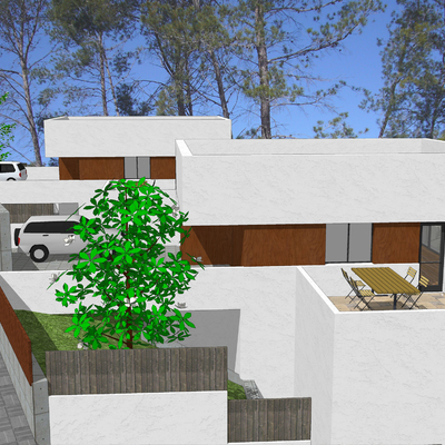 Proyecto viviendas apareadas