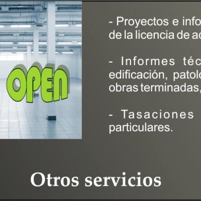Proyectos de apertura de actividades comerciales, informes técnicos, tasaciones particulares