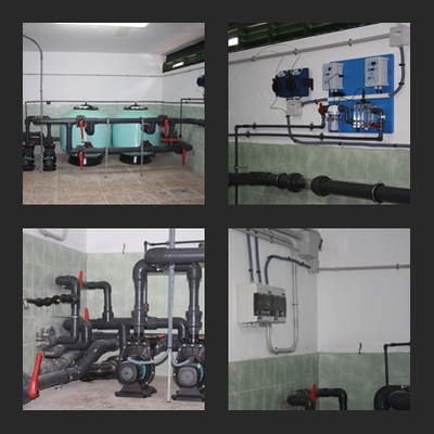 Sala de máquinas reformada.