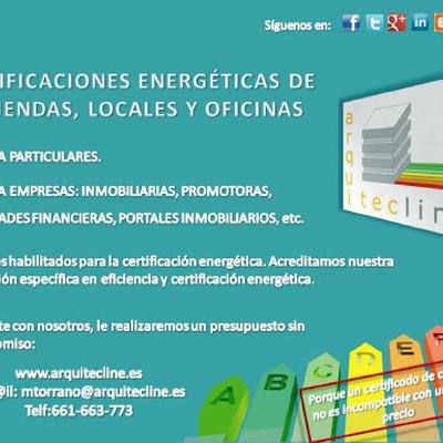 Publicidad certificaciones energéticas con arquitecline