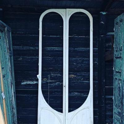 Puerta recuperada para proyecto de Interiorismo