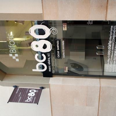 Puerta acceso showroom.