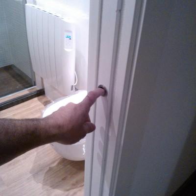 puerta corredera tiradores de uña