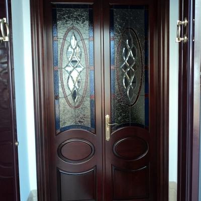 Puertas de entrada con cristal puertas de madera con cristal buscar con google manija de la - Puertas de entrada con cristal ...