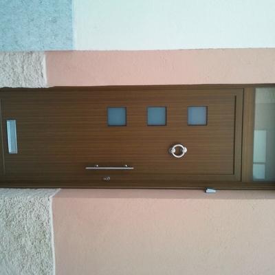 puerta de entrada imitación madera texturizada serie A40JC