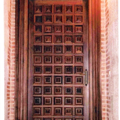 Puerta de paso en madera de NOGAL