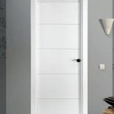 puerta mdl 4-rayas lacada en blanco