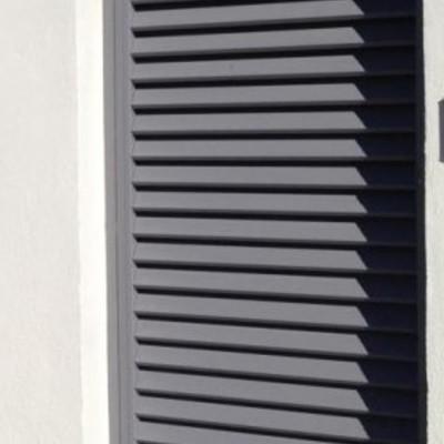Puerta abatible metálica exterior