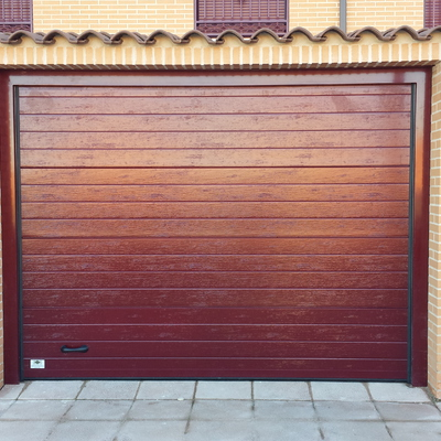 Puerta seccional acanalada ral 3005