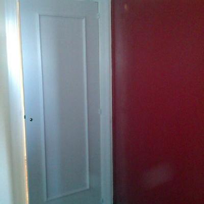 puerta semi-laca en blanco