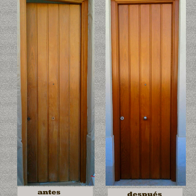 Restauración puerta de entrada
