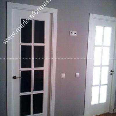 Puertas de paso lacadas