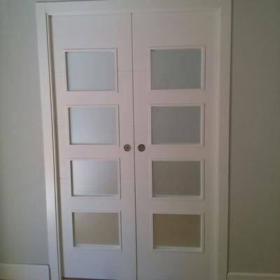 Puerta doble lacada